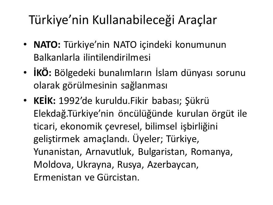 Türkiye'nin Kullanabileceği Araçlar
