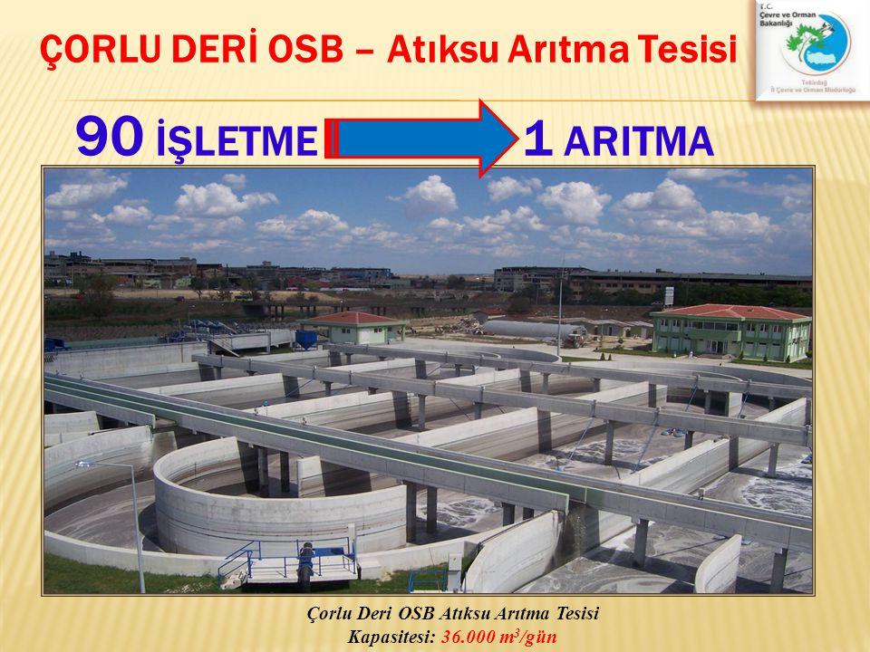 ÇORLU DERİ OSB – Atıksu Arıtma Tesisi 90 İŞLETME 1 ARITMA