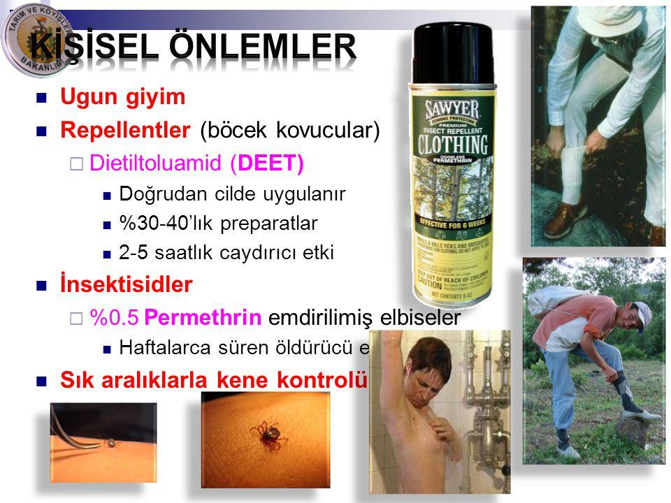 Kİşİsel önlemler Ugun giyim Repellentler (böcek kovucular)