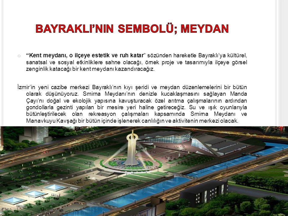 BAYRAKLI'NIN SEMBOLÜ; MEYDAN