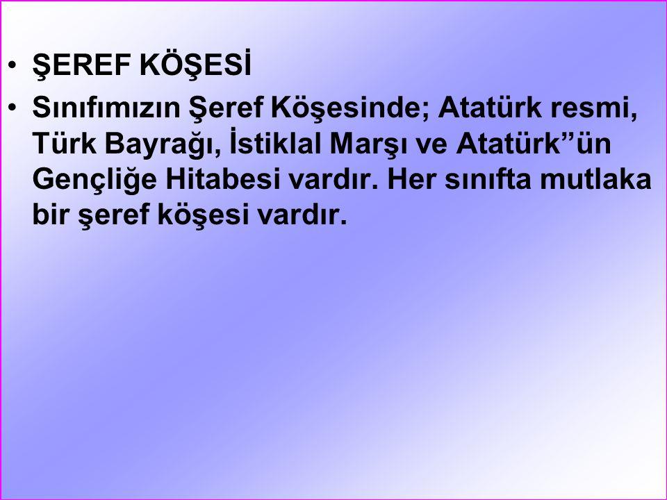 ŞEREF KÖŞESİ
