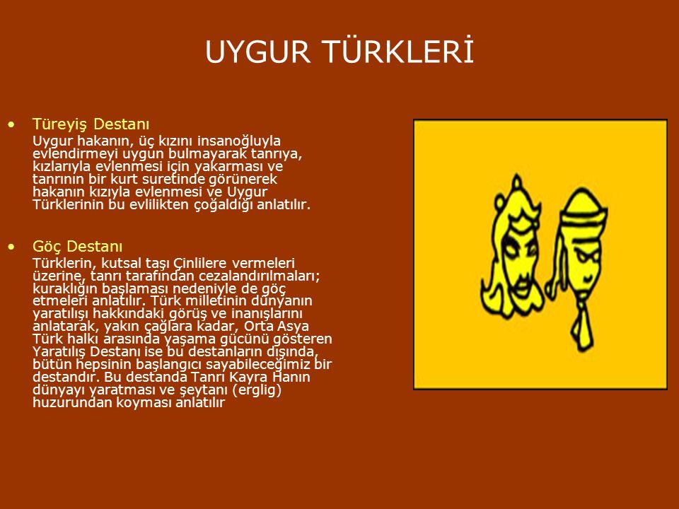 UYGUR TÜRKLERİ Türeyiş Destanı Göç Destanı