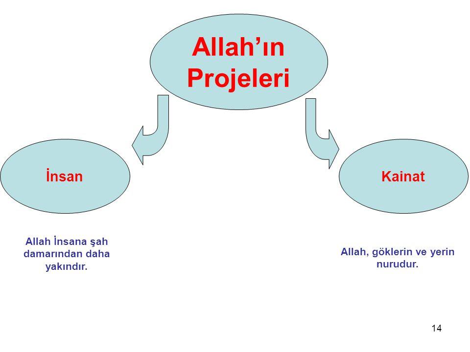Allah'ın Projeleri İnsan Kainat
