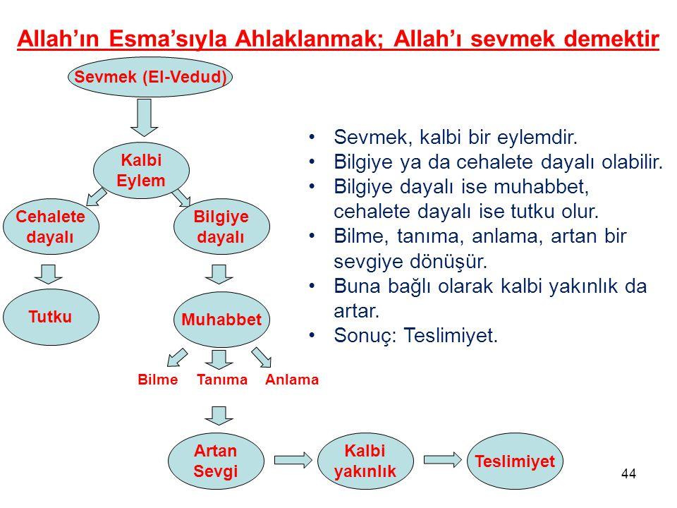Allah'ın Esma'sıyla Ahlaklanmak; Allah'ı sevmek demektir