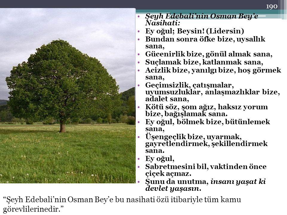 Şeyh Edebali'nin Osman Bey'e Nasihati: