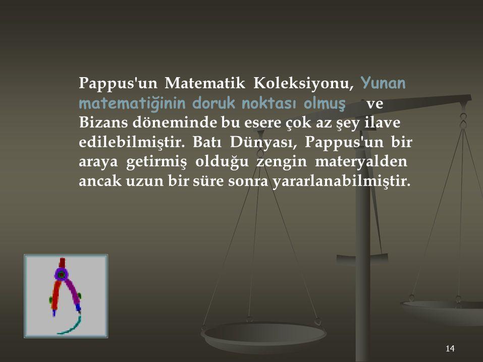 Pappus un Matematik Koleksiyonu, Yunan
