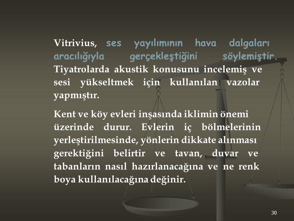 Vitrivius, ses yayılımının hava dalgaları