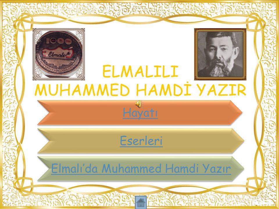 ELMALILI MUHAMMED HAMDİ YAZIR