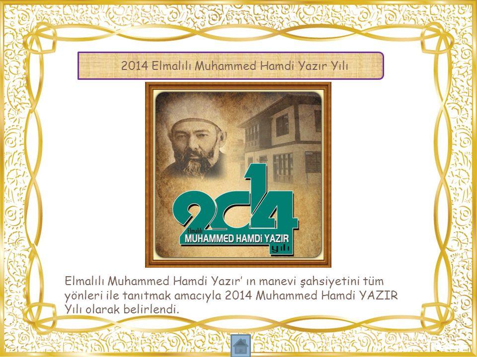 2014 Elmalılı Muhammed Hamdi Yazır Yılı