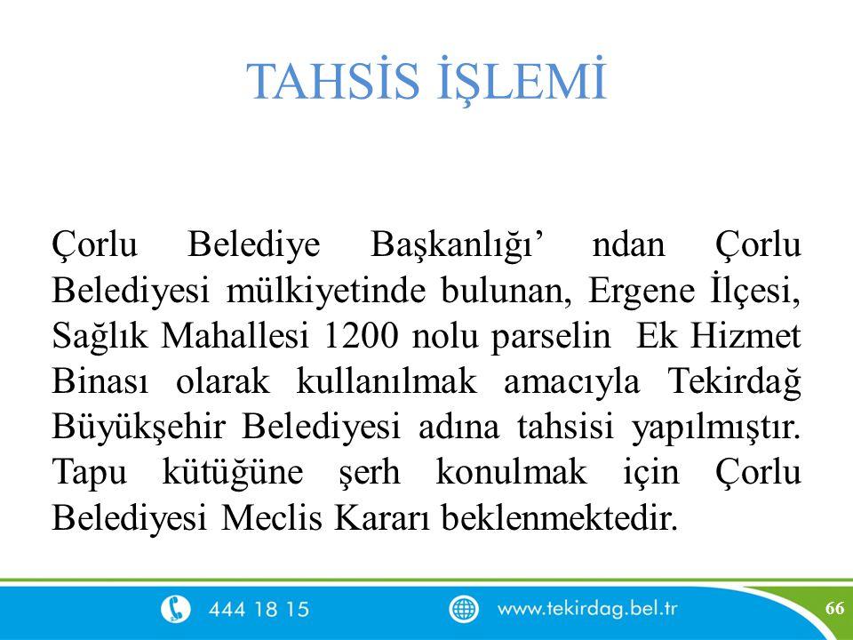 TAHSİS İŞLEMİ