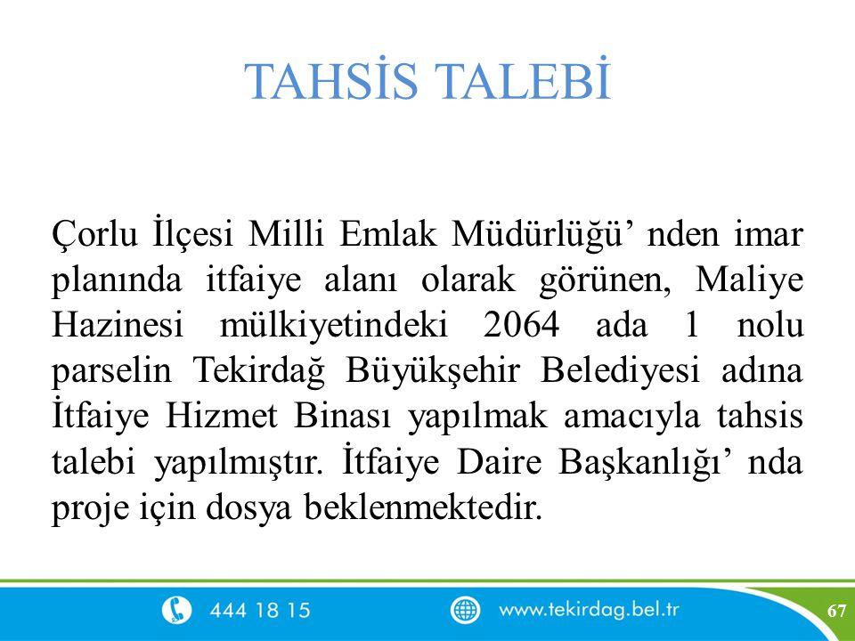 TAHSİS TALEBİ