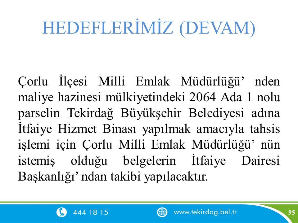 HEDEFLERİMİZ (DEVAM)
