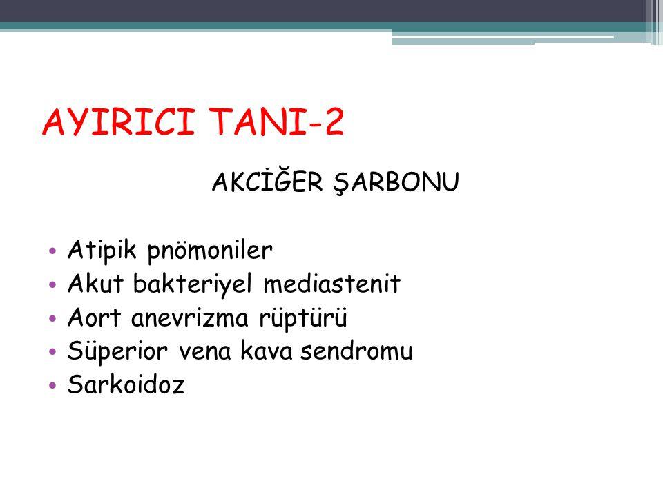 AYIRICI TANI-2 AKCİĞER ŞARBONU Atipik pnömoniler