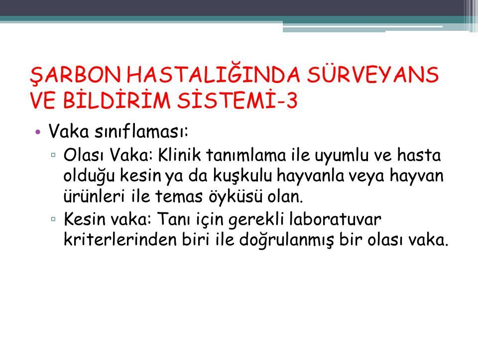 ŞARBON HASTALIĞINDA SÜRVEYANS VE BİLDİRİM SİSTEMİ-3