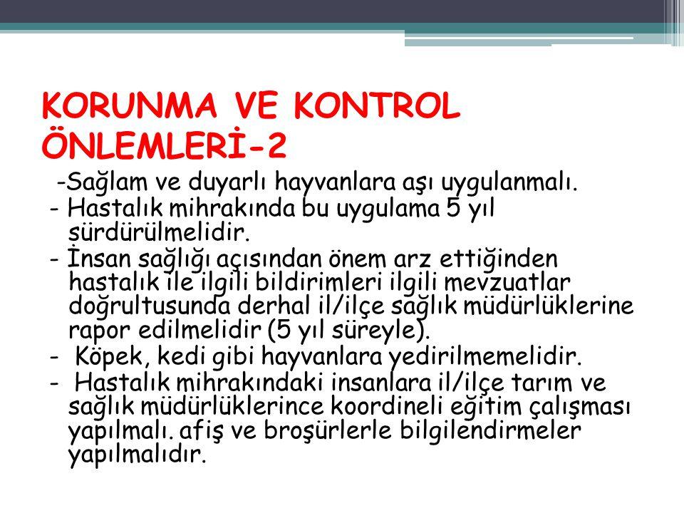 KORUNMA VE KONTROL ÖNLEMLERİ-2