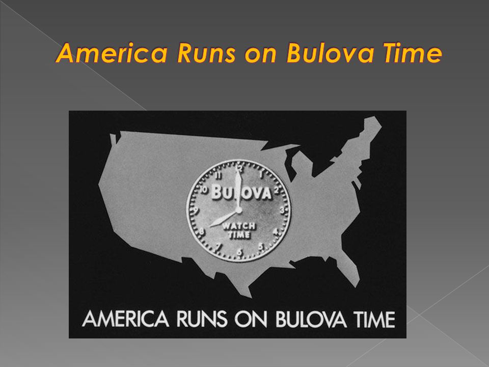 America Runs on Bulova Time