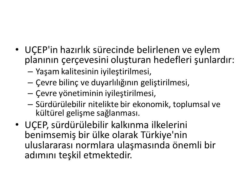 UÇEP in hazırlık sürecinde belirlenen ve eylem planının çerçevesini oluşturan hedefleri şunlardır: