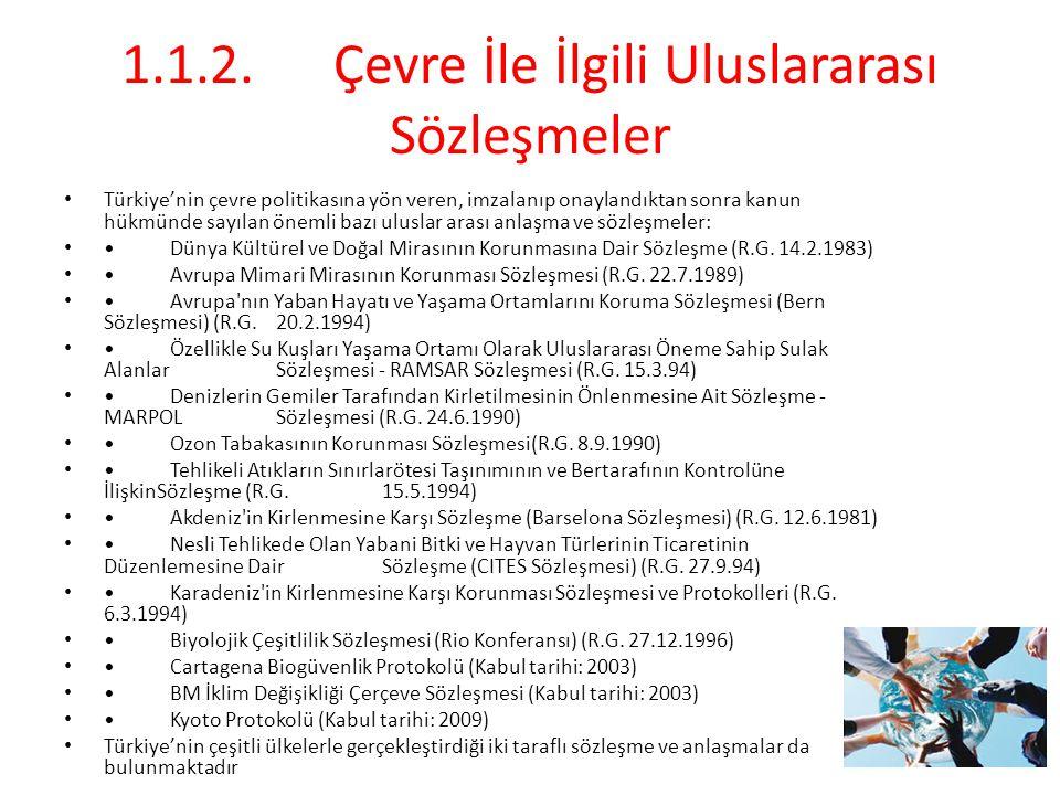 1.1.2. Çevre İle İlgili Uluslararası Sözleşmeler