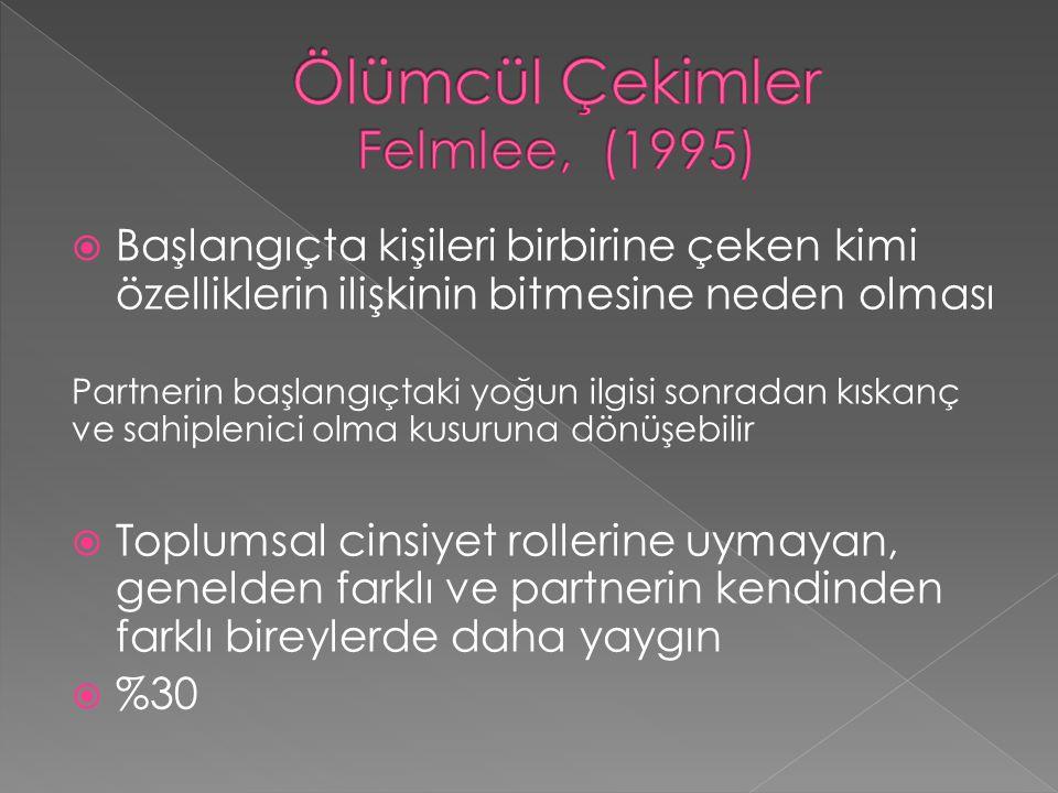 Ölümcül Çekimler Felmlee, (1995)