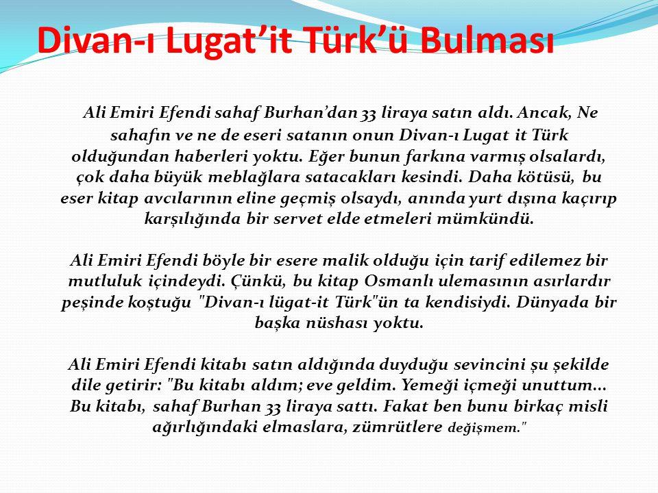 Divan-ı Lugat'it Türk'ü Bulması