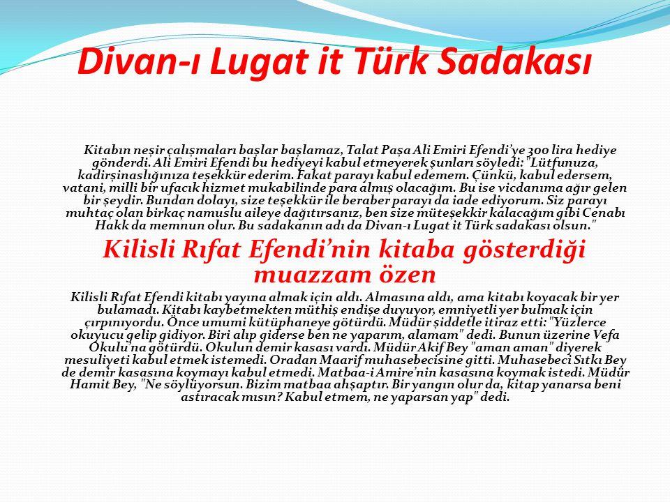 Divan-ı Lugat it Türk Sadakası