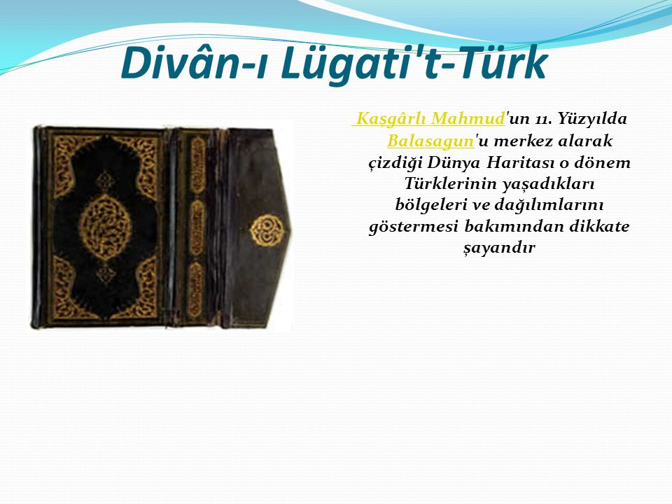 Divân-ı Lügati t-Türk
