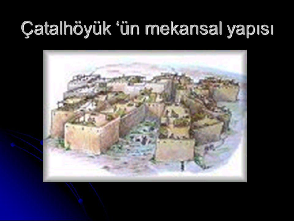 Çatalhöyük 'ün mekansal yapısı