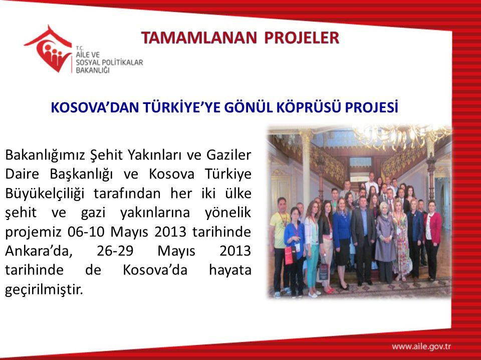 KOSOVA'DAN TÜRKİYE'YE GÖNÜL KÖPRÜSÜ PROJESİ