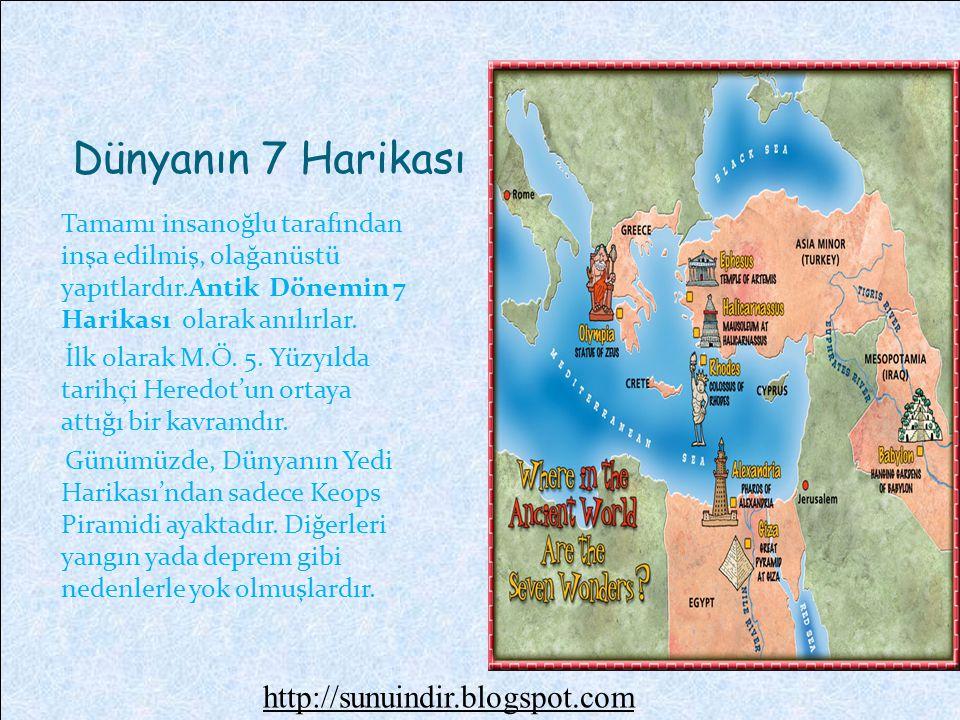 Dünyanın 7 Harikası http://sunuindir.blogspot.com