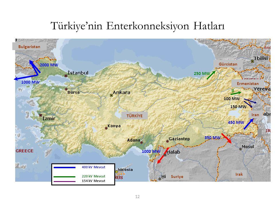Türkiye'nin Enterkonneksiyon Hatları