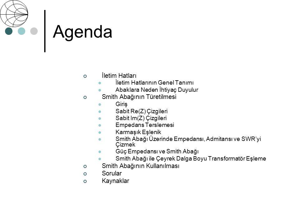 Agenda İletim Hatları Smith Abağının Türetilmesi