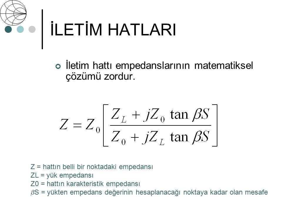 İLETİM HATLARI İletim hattı empedanslarının matematiksel çözümü zordur. İletim hatlarının matematiksel çözümünün zorluklarından bahsedilecektir.