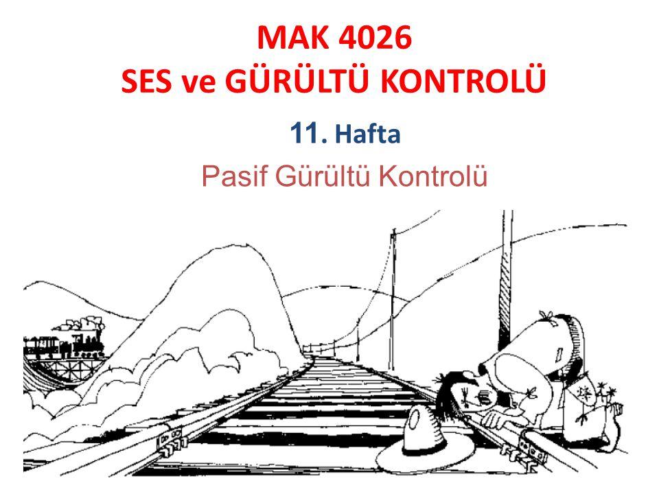 MAK 4026 SES ve GÜRÜLTÜ KONTROLÜ