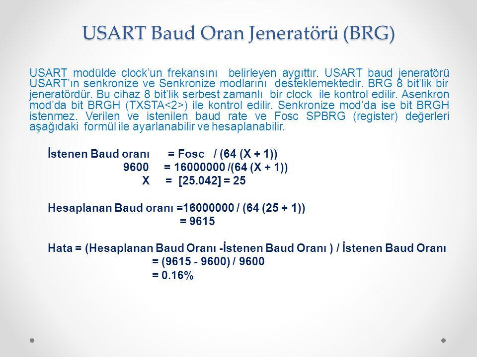 USART Baud Oran Jeneratörü (BRG)