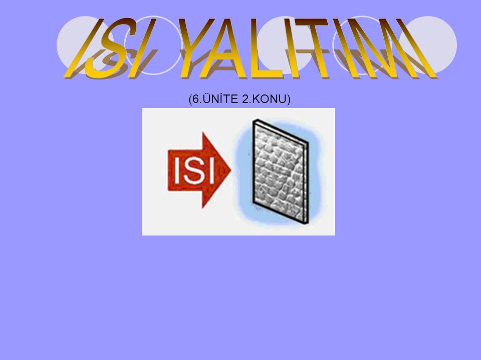 ISI YALITIMI (6.ÜNİTE 2.KONU)