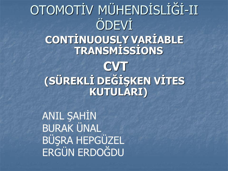 OTOMOTİV MÜHENDİSLİĞİ-II ÖDEVİ