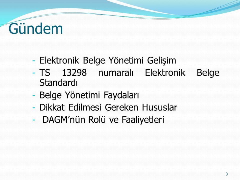 Gündem Elektronik Belge Yönetimi Gelişim
