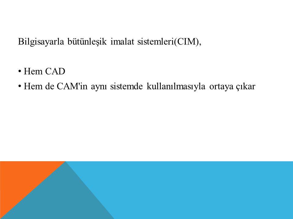 Bilgisayarla bütünleşik imalat sistemleri(CIM),