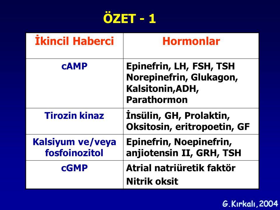 Kalsiyum ve/veya fosfoinozitol