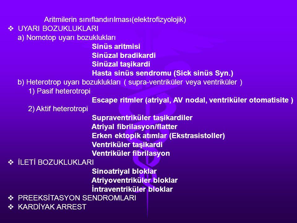Aritmilerin sınıflandırılması(elektrofizyolojik)
