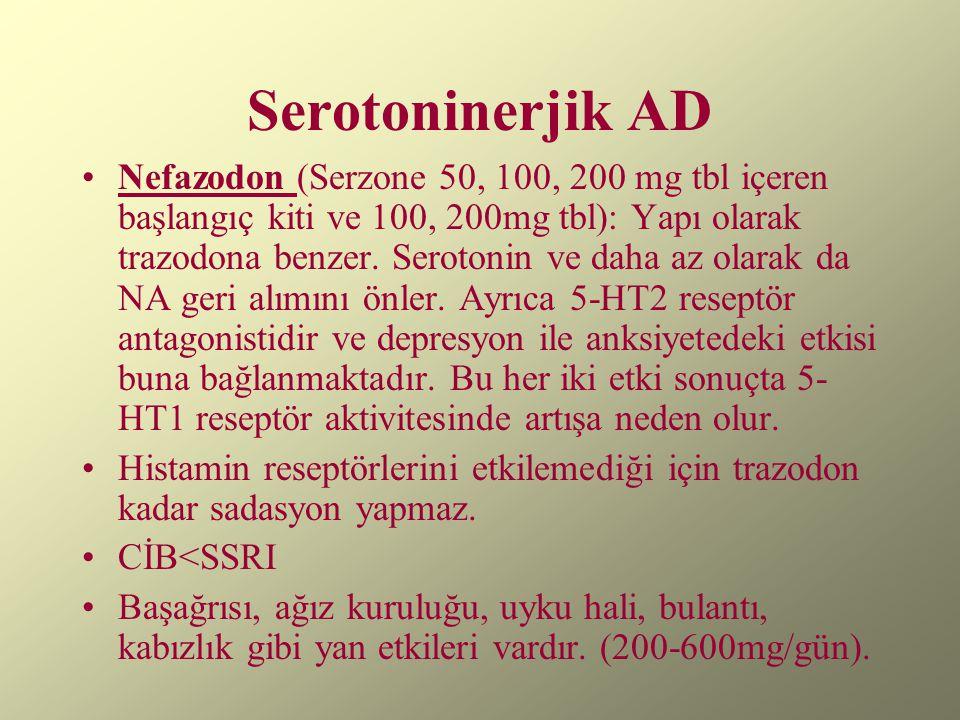 Serotoninerjik AD