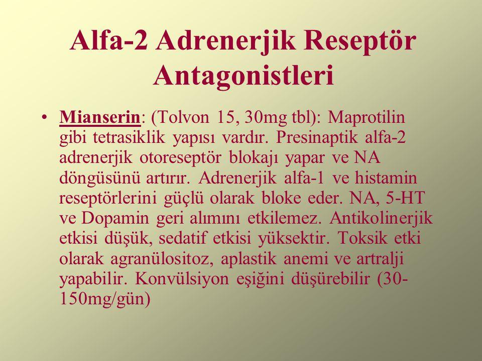 Alfa-2 Adrenerjik Reseptör Antagonistleri