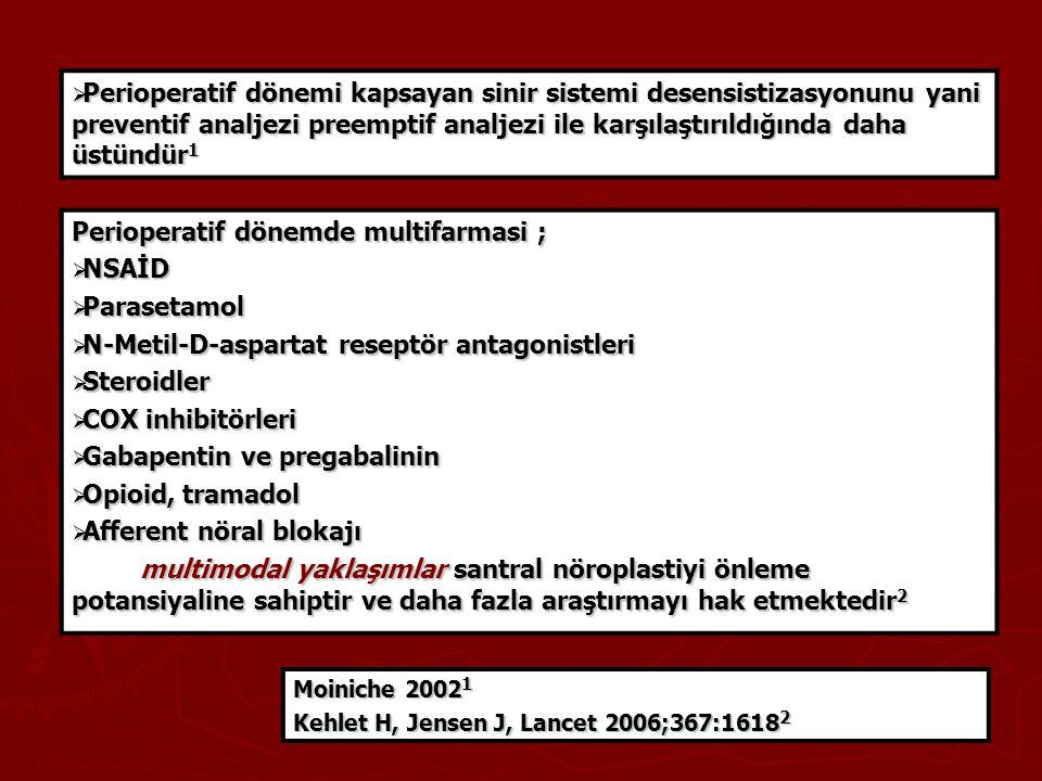 Perioperatif dönemde multifarmasi ; NSAİD Parasetamol