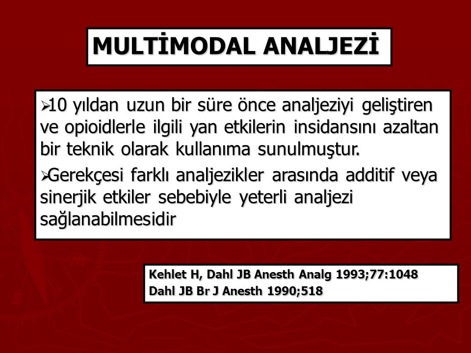 MULTİMODAL ANALJEZİ