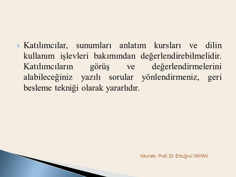 Kaynak: Prof. Dr. Ertuğrul YAMAN