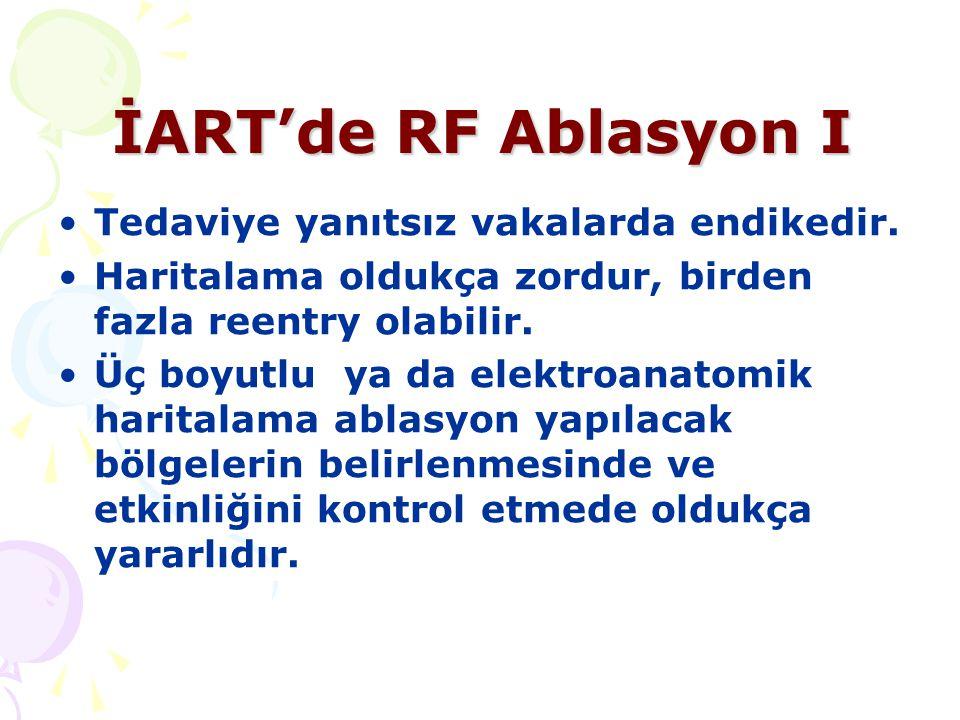 İART'de RF Ablasyon I Tedaviye yanıtsız vakalarda endikedir.