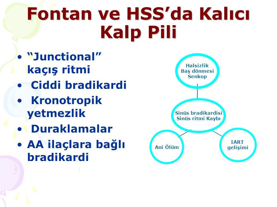 Fontan ve HSS'da Kalıcı Kalp Pili