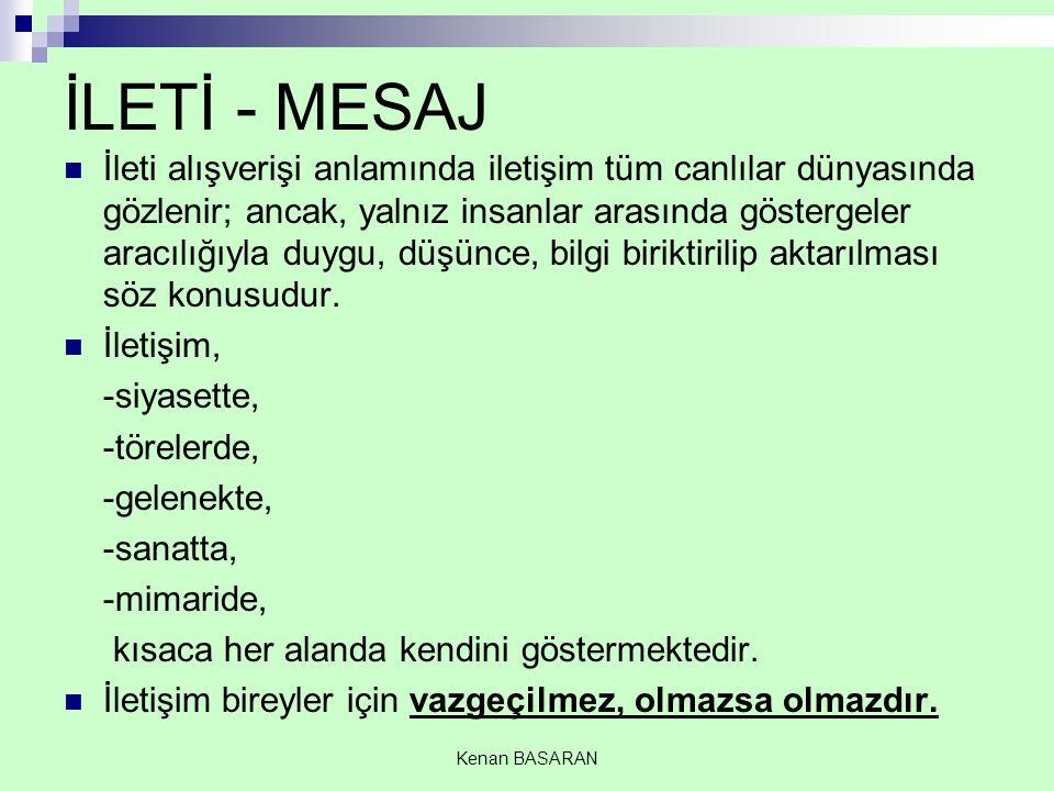 İLETİ - MESAJ