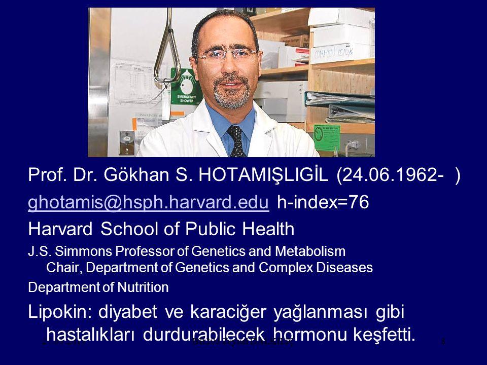 Prof. Dr. Gökhan S. HOTAMIŞLIGİL (24.06.1962- )