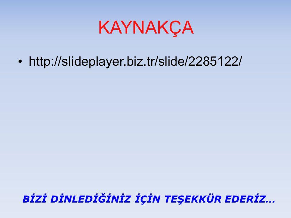 KAYNAKÇA http://slideplayer.biz.tr/slide/2285122/